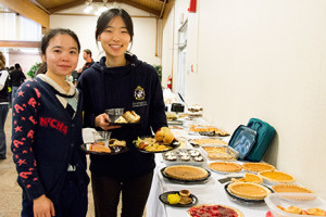 Participants at the 2014 smorgasbord enjoyed an array of midwestern Thanksgiving cuisine.