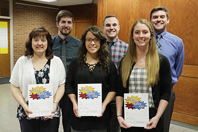 "Master of Physician Assistant and Graphic Design students who created ""Super Food Super You"" book"