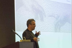 "Robert ""Bob"" Bosch, Ph.D., math professor at Oberlin College, spoke at the 2015 Mathematics Day event about how he uses optimization to create pictures, portraits and sculptures."