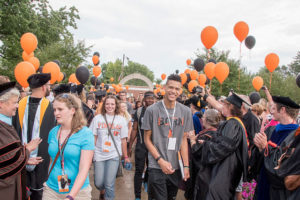 New students participate in the annual Arch Ceremony before embarking on their UF education.