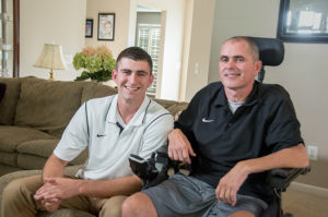 Nick, right, and Troy Berry at their Findlay home.