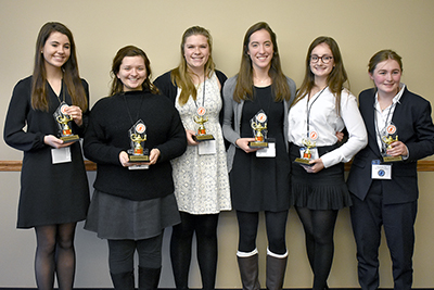 UF's second annual Ohio High School Ethics Bowl champions from St. Ursula Academy.