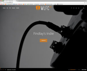 WLFC's new website featuring the new logo at the top and online streaming at the bottom.