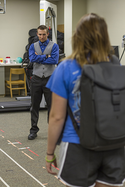 Physical therapy student Ryan Queen conducts research in the Summer Research Scholars Program