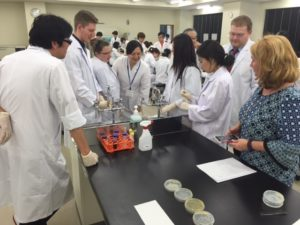 students working in a lab