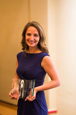 University of Findlay Alumna receives Toledo 20 Under 40 award.