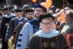 University of Findlay faculty at Arch Ceremony.